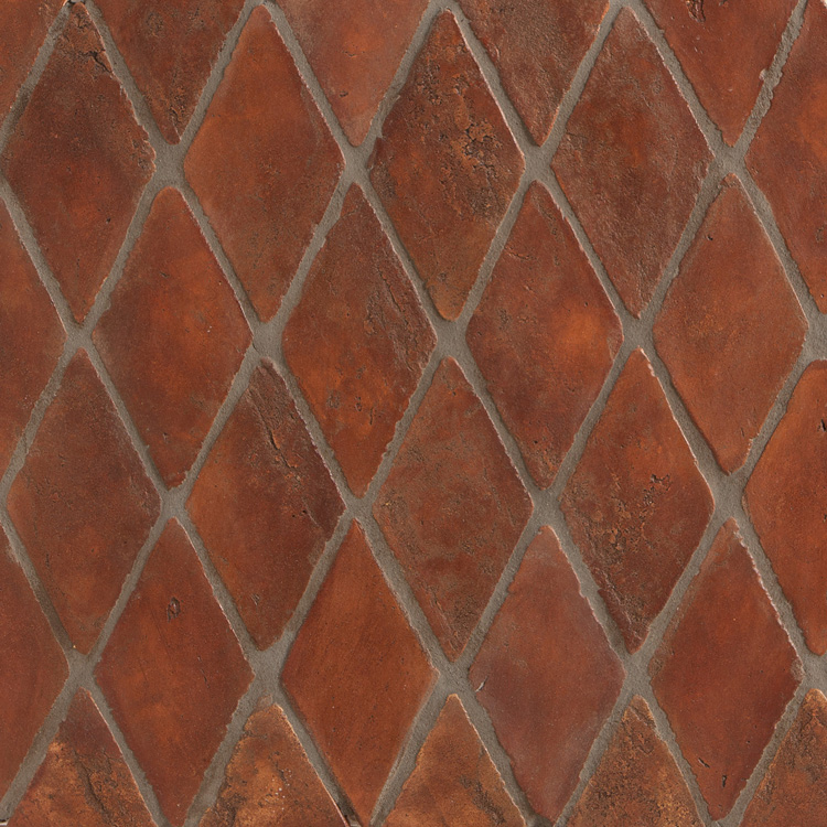 Terracotta full circle design studio Spanish clay tile