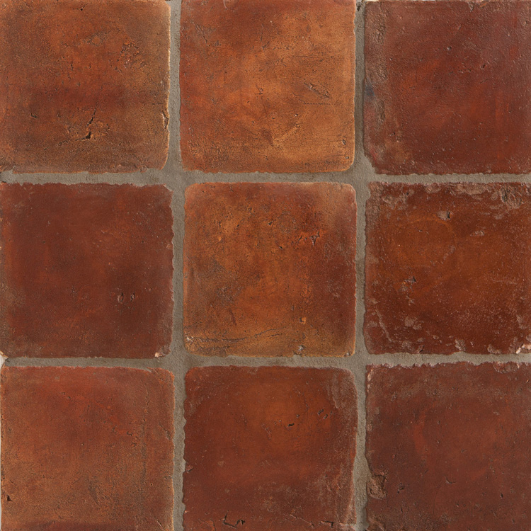 Clay tile floor